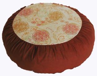 Boon Decor Meditation Cushion Zafu Pillow Meditation Mandala Tranquility - Saffron