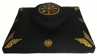Boon Decor Meditation Pillow Set Zafu Zabuton 8 Auspicious Symbols SEE COLORS and ZABUTONS