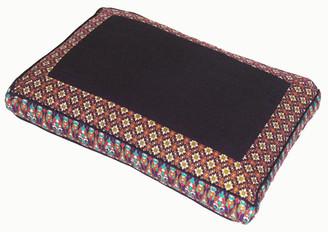 Boon Decor Meditation Cushion Pillow - Low Rise Sitting Zafu - Purple Indochine