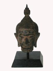 Boon Decor Buddha Head Solid Bronze 6.5