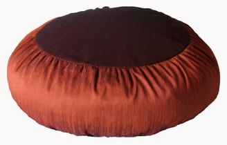 Boon Decor Meditation Cushion Zafu Pillow Rain silk Rust Brown - Limited Edition