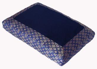 Boon Decor Meditation Cushion - Low Rise Sitting Zafu - Brocade Blue SEE COLORS