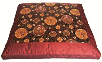 Boon Decor Meditation Cushion Japanese Zabuton Floor Mat Butterflies in the Orient Copper/Brown