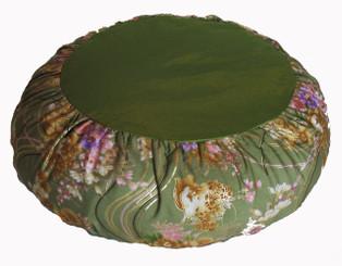 Boon Decor Meditation Pillow Zafu Cushion Japanese Kimono Silk Green SEE PATTERN CHOICES