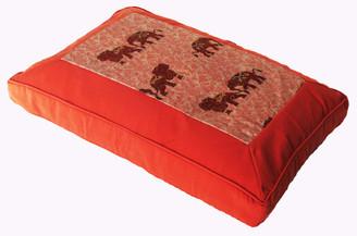 Boon Decor Meditation Cushion Sitting Zafu Elephant Pair Tangerine