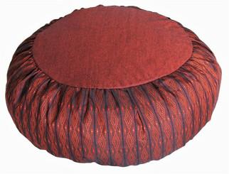 Boon Decor Meditation Cushion Zafu Buckwheat Pillow Global Weave Rust