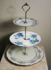 Boon Decor 3 Tier Cake hors d Ouvres Stand Forget Me Not