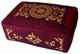 Boon Decor Rectangular Zafu Meditation Cushion Pillow Combination Fill - Burgundy SEE SYMBOLS