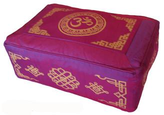 Boon Decor Rectangular Zafu Meditation Cushion Combination Fill Pillow - Magenta SEE SYMBOLS