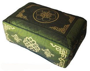 Boon Decor Rectangular Meditation Cushion Buckwheat Kapok Fill - Olive Green SEE SYMBOLS