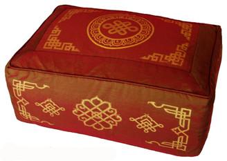 Boon Decor Meditation Cushion Rectangular Zafu Pillow - Saffron SEE SYMBOLS