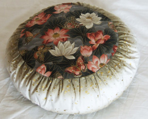 Boon Decor Meditation Pillow - Limited Edition Lotus Sanctuary w/ Gold Squares SEE COLORS