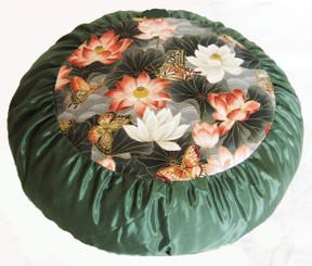 Boon Decor Meditation Cushion Zafu - Limited Edition Lotus Sanctuary Sage