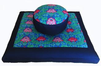 Boon Decor Meditation Cushion Set Zafu Zabuton Lotus Lake Blossoms SEE COLORS
