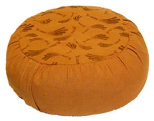 Boon Decor Meditation Cushion Zafu Pillow 100percent Prewashed Cotton Cinnamon Brown