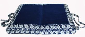 Boon Decor Meditation Cushion Folding/ Travel Zabuton Floor Cushion - Japanese Wood Block Print Sakura