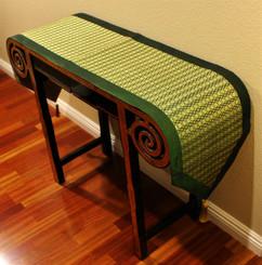 Boon Decor Table Runner Wall Hanging Classic Brocade Fabric - Green 75x15