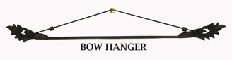 Boon Decor Fabric/Runner Hanger - Carved Teak Wood and Bamboo Bow 40
