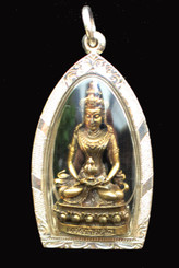 Boon Decor Buddha and Quan Yin Pendant - Bronze in Hand Crafted Silver Casing SEE CHOICES