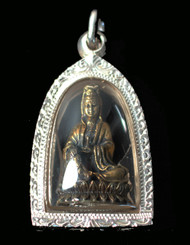 Boon Decor Kwan Yin Pendant - w/ Blessing Water - Handcrafted Fine Silver .999 Casing SEE CHOICES