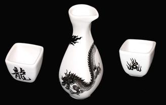 Boon Decor Dragon Sake Set - Dragon Stoneware Table Top