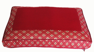 Boon Decor Meditation Cushion Pillow - Low Rise Sitting - Red Indochine