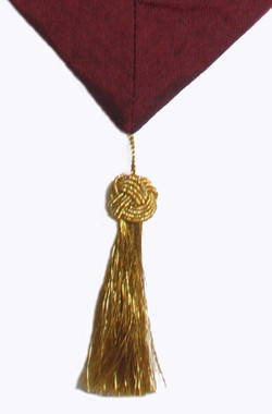 Tassel at end of altar cloth.