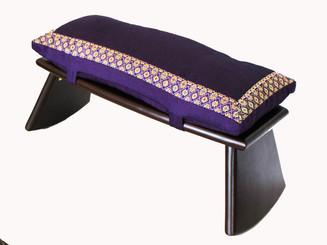 Boon Decor Meditation Bench and Cushion Set Folding Seiza - Brocade Fabric - SEE COLORS