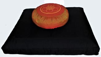 Boon Decor Meditation Cushion Set Black Zabuton Buckwheat Zafu SEE SYMBOLS