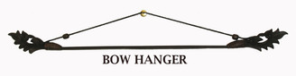 Boon Decor Fabric/Runner Hanger - Carved Teak Wood and Bamboo Bow Black SEE SIZES