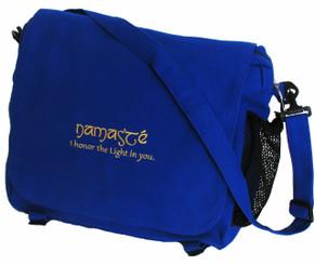 Boon Decor Messenger Bag /Yoga/Gym/Tote/Computer Bag Royal Blue Namaste
