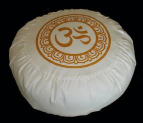Boon Decor Meditation Pillow Buckwheat Zafu Cushion Ivory Silkscreen SEE CHOICES