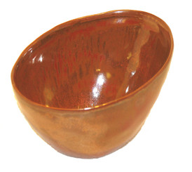 Boon Decor Ikebana Bowl and Plate - Copper Glaze Copper Glaze Porcelain Ikebana Bowl