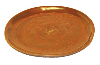 Boon Decor Ikebana Bowl and Plate - Copper Glaze Copper Glaze Porcelain Ikebana Bowl Under Dish