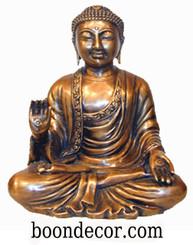 Boon Decor Buddha Statue - Varada Mudra - Charity and Compassion - Solid Bronze 10 h