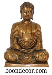 Boon Decor Buddha Statue - Zen Meditation Posture - Solid Bronze 15 h