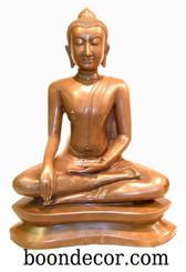 Boon Decor Buddha Statue - Earth Witness Mudra - Solid Bronze 19 h
