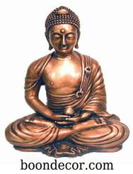 Boon Decor Buddha Statue - Zen Style Meditating Posture with Globe - Solid Bronze 9