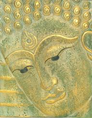 Boon Decor Buddha Face Wall Art - Hand Carved Wood 12 x 15