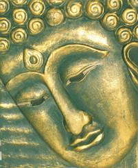 Boon Decor Buddha Face Wall Art - Hand Carved Wood 10 x 12