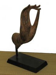 Boon Decor Hand of Buddha Bronze Antique Reproduction - Vitarka Mudra - Teaching Gesture