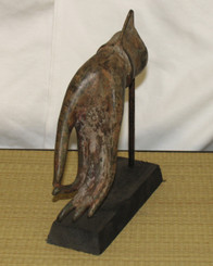 Boon Decor Hand of Buddha Bronze Antique Reproduction - Vitarka Mudra Teaching Gesture on Base