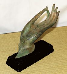 Hand Of Buddha Bronze Antique Reproduction - Vitarka Mudra Teaching Gesture