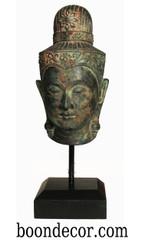 Boon Decor Prince Siddharta Buddha Head - Bronze - 12.25 High