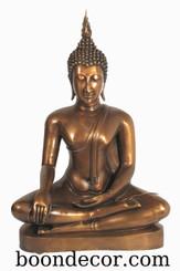 Boon Decor Buddha Statue - Earth Witness Mudra - Solid Bronze 21