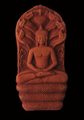Boon Decor Buddha with Naga Hood - Terracotta Reliefs - Ancient Temple Wall Reproductions