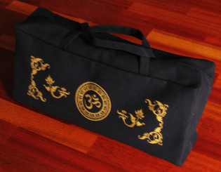 Boon Decor Meditation Tote Bag - 100percent Cotton Canvas Silkscreen Om Black