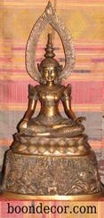 Boon Decor Buddha Statue - Ceremonial Dressed Buddha - Solid Bronze 26