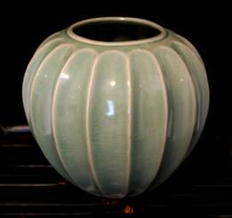 Boon Decor Celadon Glaze Star Fruit Vase