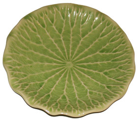 Boon Decor Celadon Tabletop Dinnerware Lotus Blossom Collection 12 Water Lily Leaf Serving Plater